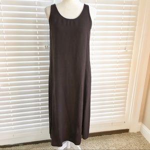 Eileen Fisher Petite Medium Brown Long Linen Dress